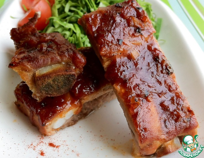 Рецепт: Ребрышки свиные Пряные