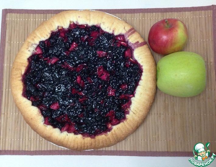 Рецепт: Пирог с яблоками и вареньем