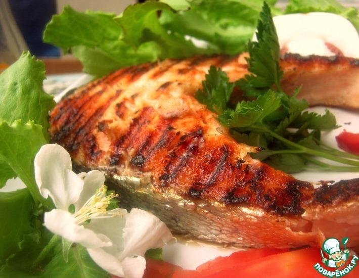 Рецепт: Сёмговый стейк на гриль-сковороде