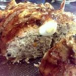 Курочка, фаршированная грибами и перепелиными яйцами