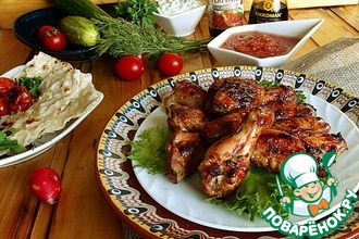 Рецепт: Куриные крылышки с соусом Терияки