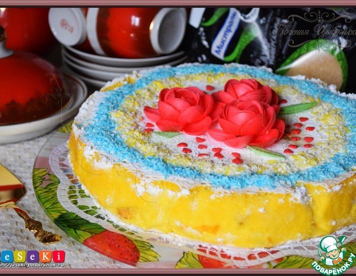 Рецепт: Бисквитный австрийский сырный торт
