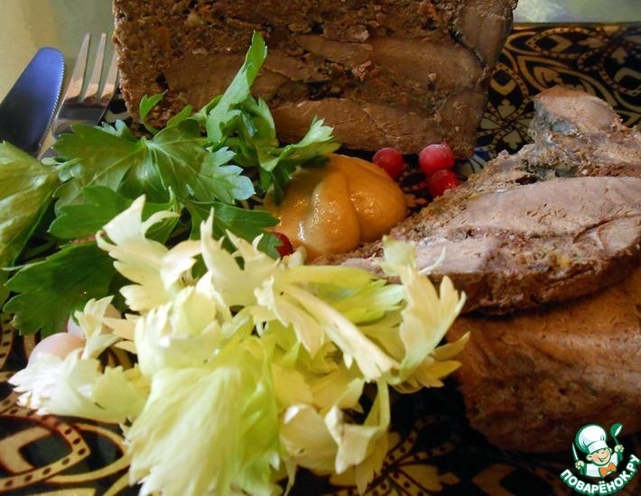 Рецепт: Ветчина из телячьего сердца с цитрусовыми нотками