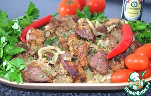 Луковый шашлык – кулинарный рецепт