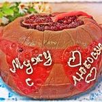 Торт Бочонок с икрой из бисквита на сгущенке