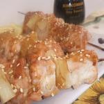 Шашлычок куриный с ананасами