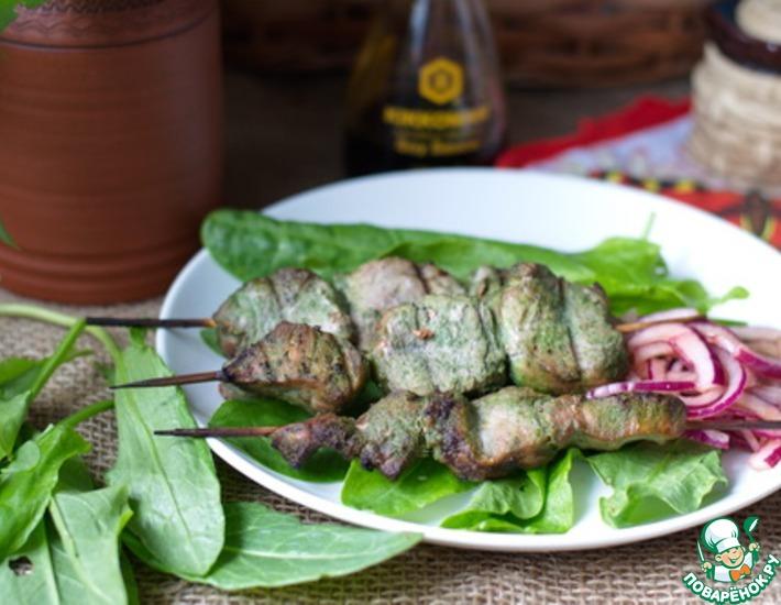 Рецепт: Шашлык из свинины в щавелево-соевом маринаде