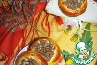 Рецепт: Ватрушки с маком и ореховым штрейзелем
