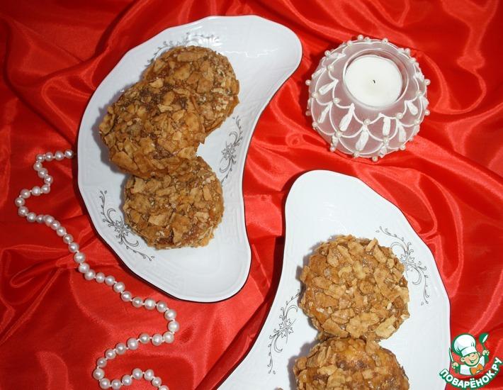 Рецепт: Сырники с карамельно-вафельной корочкой