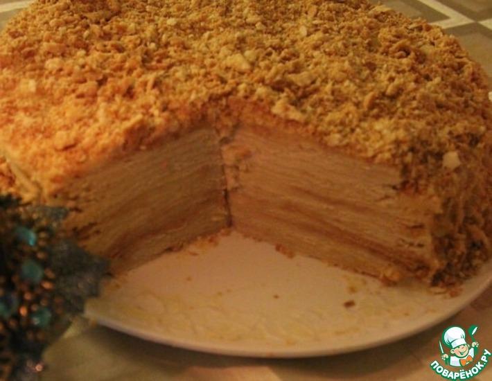 Рецепт: Мамин торт Наполеон