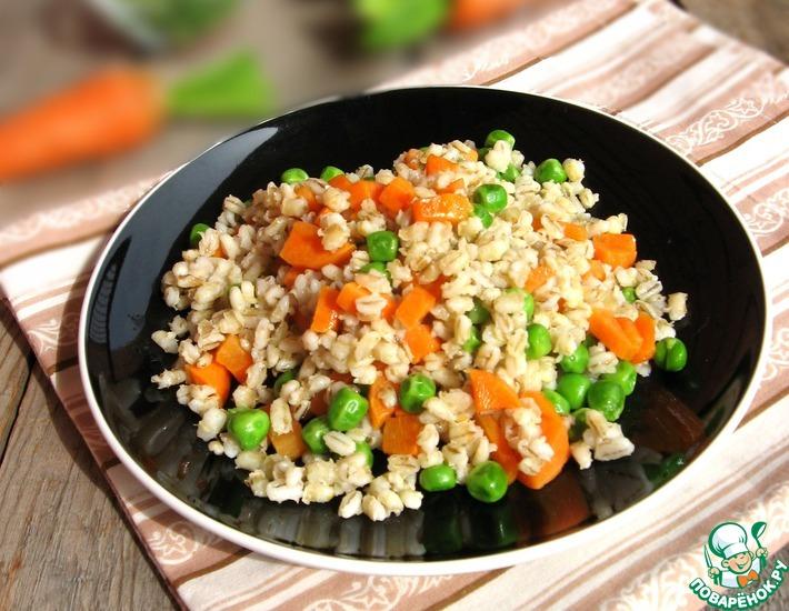 Рецепт: Перловая каша с овощами