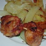Шашлык из окорочков с картошкой