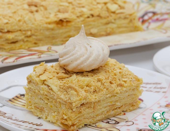 Рецепт: Сливочный торт Наполеон
