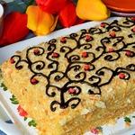 Торт Наполеон апельсиновый