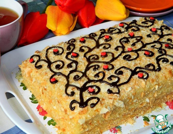 Рецепт: Торт Наполеон апельсиновый