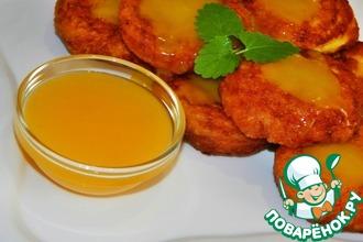Рецепт: Оранжевые сырники с апельсиновым соусом