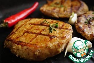 Рецепт: Стейки из свинины для спонтанного пикника