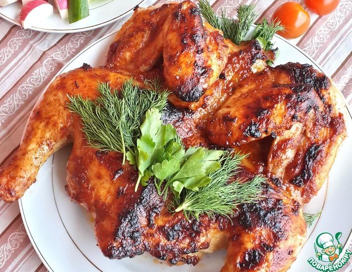 Рецепт: Цыпленок-гриль в рассоле