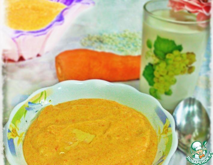Рецепт: Рисовая кашка с морковкой