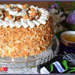Бисквитный медово-ореховый торт Идеал
