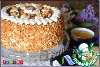 Рецепт: Бисквитный медово-ореховый торт Идеал