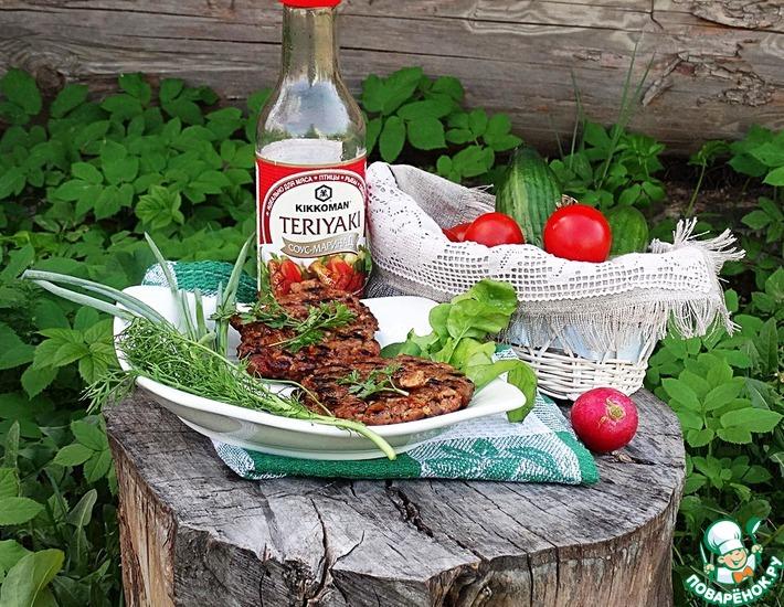 Рецепт: Рубленые котлеты из индейки с соусом Терияки