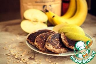 Рецепт: Банановые оладьи без яиц и муки