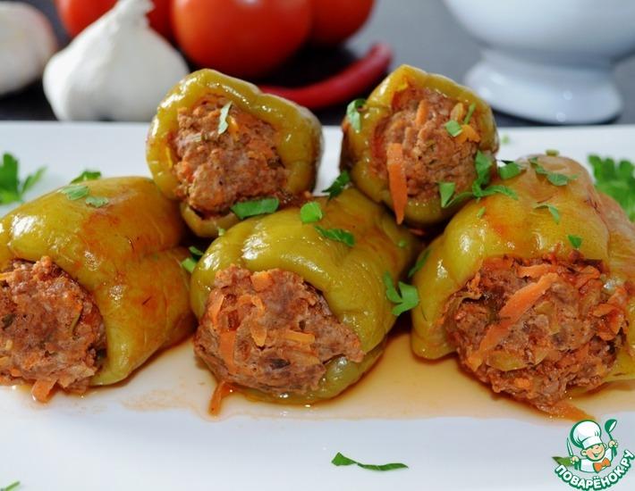 Рецепт: Фаршированные перцы Раздельное питание