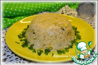 Рецепт: Ризотто с кабачком и плавленным сыром