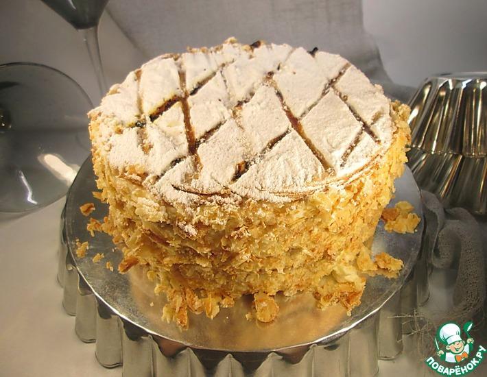 Рецепт: Традиционный торт Наполеон в английском стиле