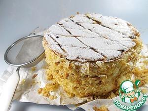 Традиционный торт Наполеон в английском стиле Сахарная пудра