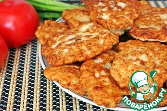 Рецепт: Куриные оладьи Просто и вкусно