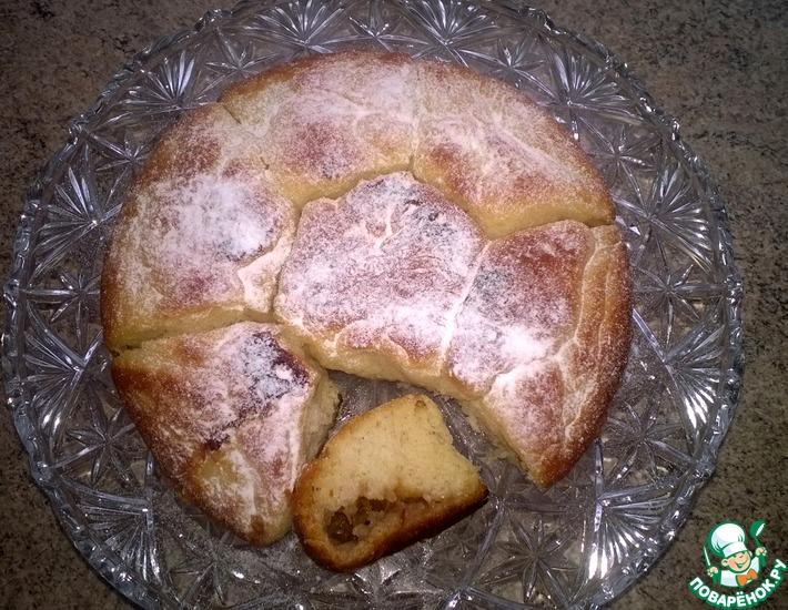 Рецепт: Постные булочки с яблоками и корицей