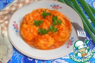 Рецепт: Тефтели Ёжики в томатно-луковом соусе