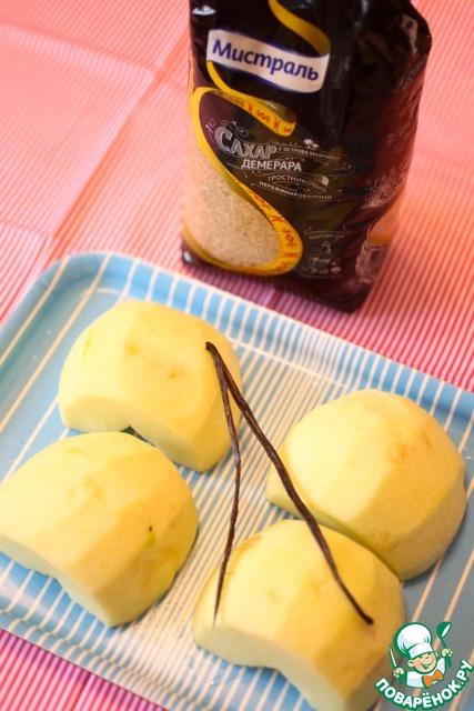 Яблочно-карамельная шарлотка