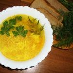 Суп куриный с яйцом