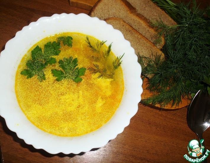 Рецепт: Суп куриный с яйцом