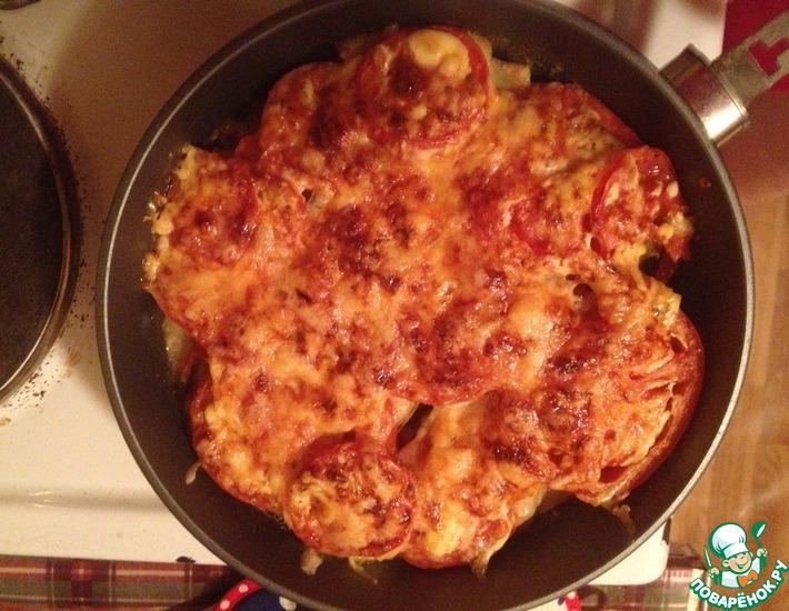 Рецепт: Картофельная запеканка с баклажанами