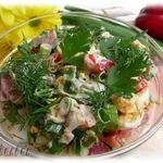 Салат из яйца и болгарского перца