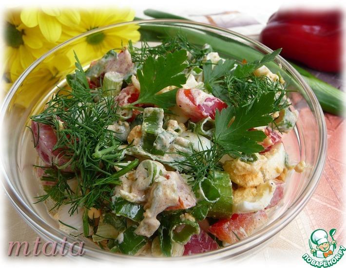 Рецепт: Салат из яйца и болгарского перца
