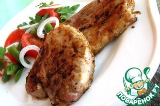 Рецепт: Свинина-гриль в яблочном маринаде
