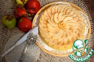 Рецепт: Яблочно-карамельная шарлотка