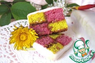 Рецепт: Мини-кексы а-ля Баттенберг