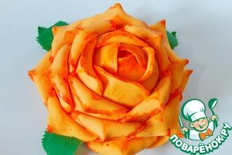 Рецепт: Шоколадный бисквит и оформление торта Роза