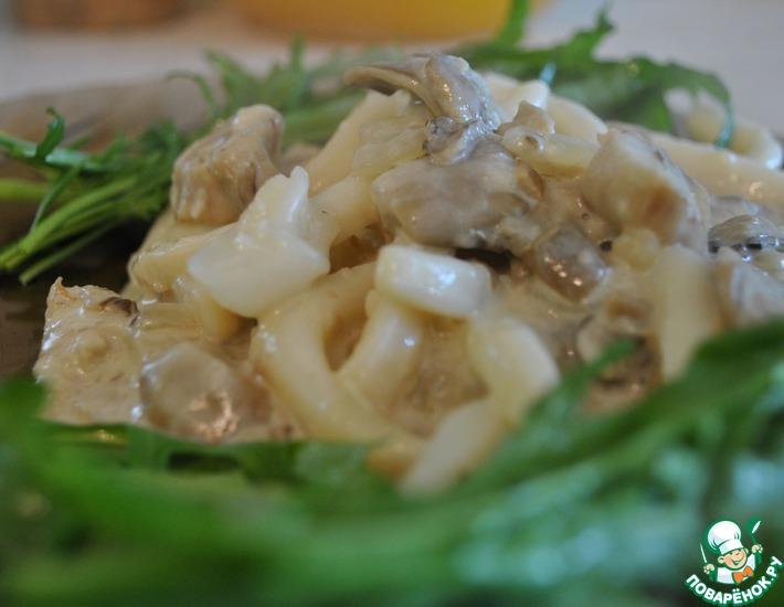 Рецепт: Грибные кальмары