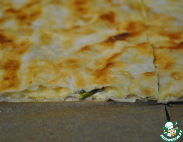 Рецепт: Лаваш с сыром вместо хлеба