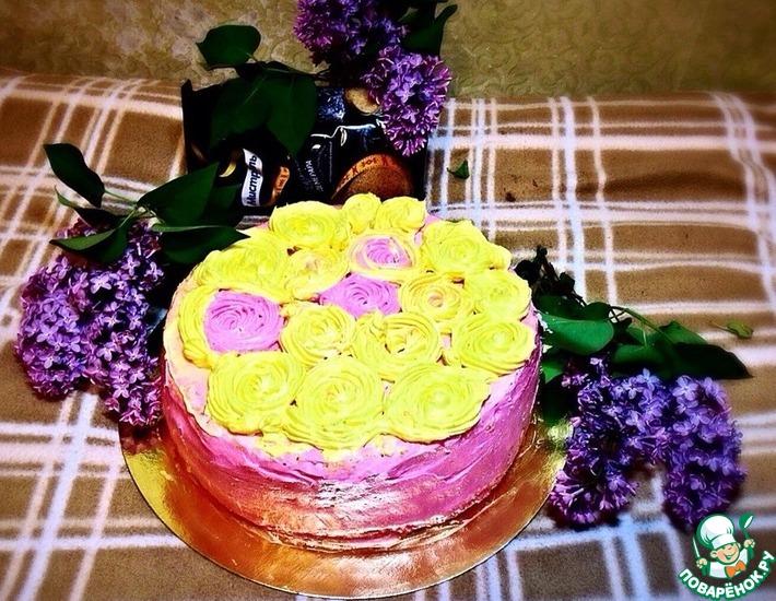 Рецепт: Бисквитный торт Для принцесс