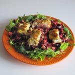 Салат со свеклой и рыбой карри