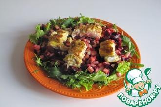 Рецепт: Салат со свеклой и рыбой карри
