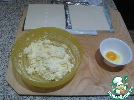 слойки с адыгейским сыром из слоеного теста